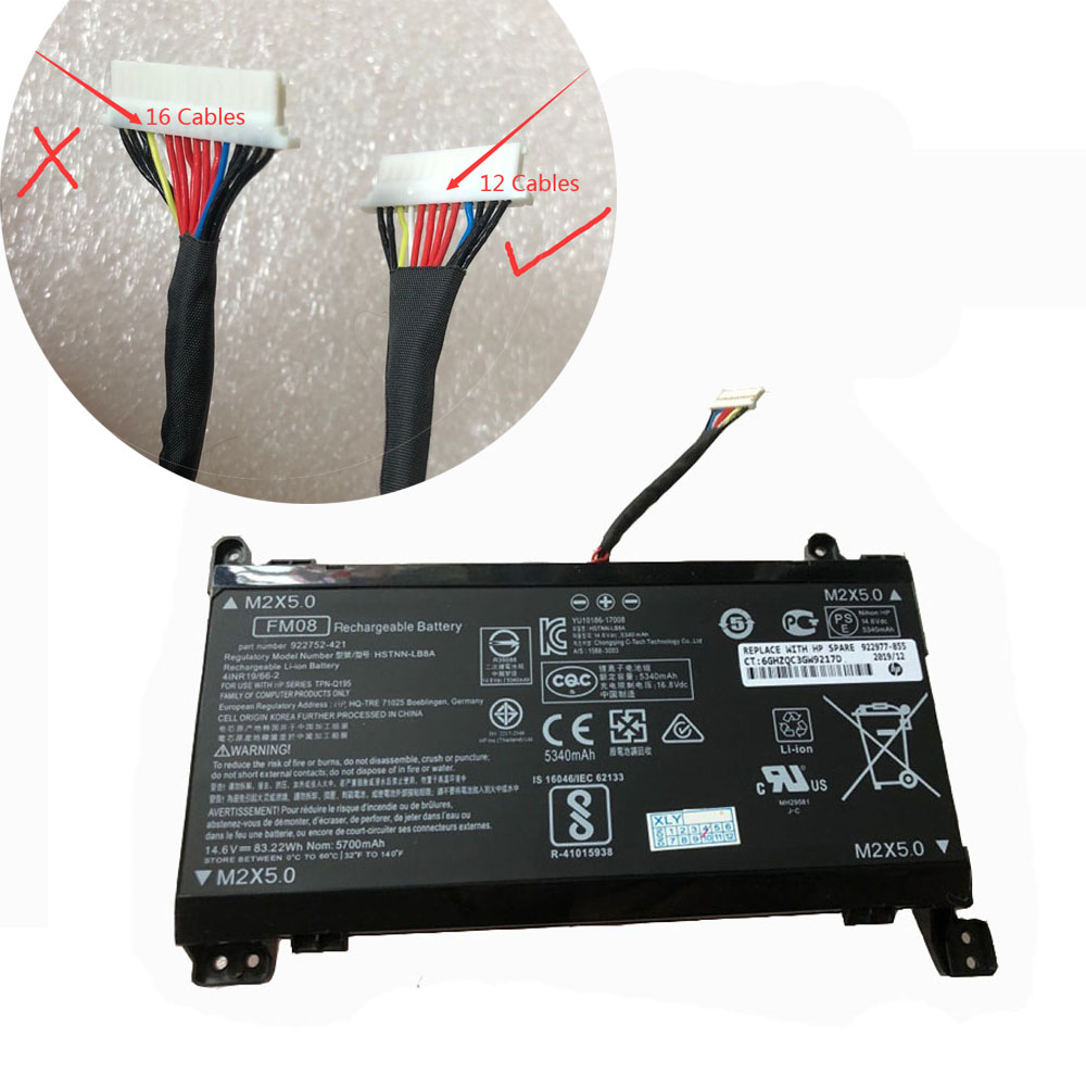 HP OMEN 17-AN013TX 17-AN014TX HSTNN-LB8B 9227... battery